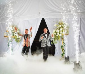 pyrotechnic services - wedding entrance